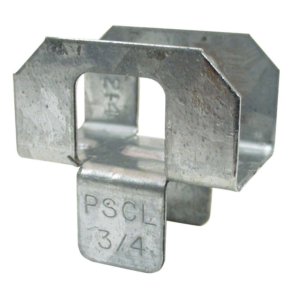 Simpson Strong Tie Pscl 3 4 In 20 Gauge Galvanized Panel Sheathing Clip Pscl 3 4 Plywood Clips Mending Plates Roof Truss Design