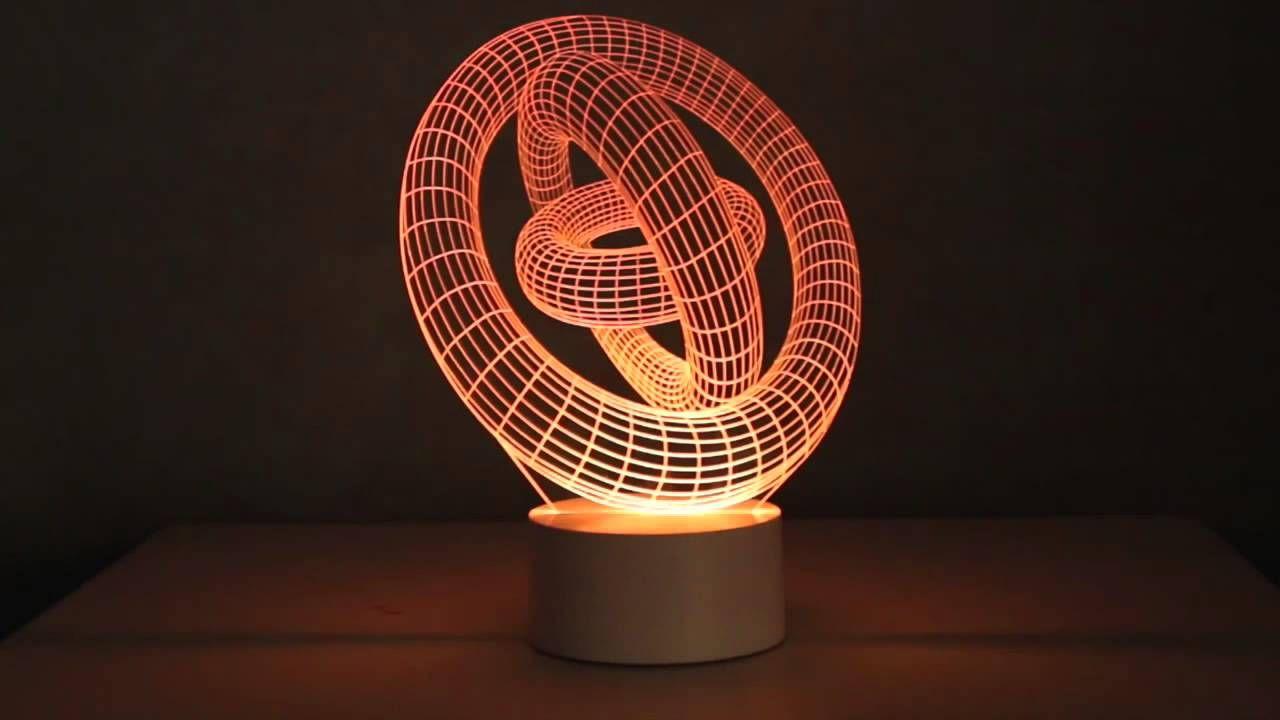 3D illusion LED Lamps   3D Lamps   Pinterest   Led lamp, Illusions ...