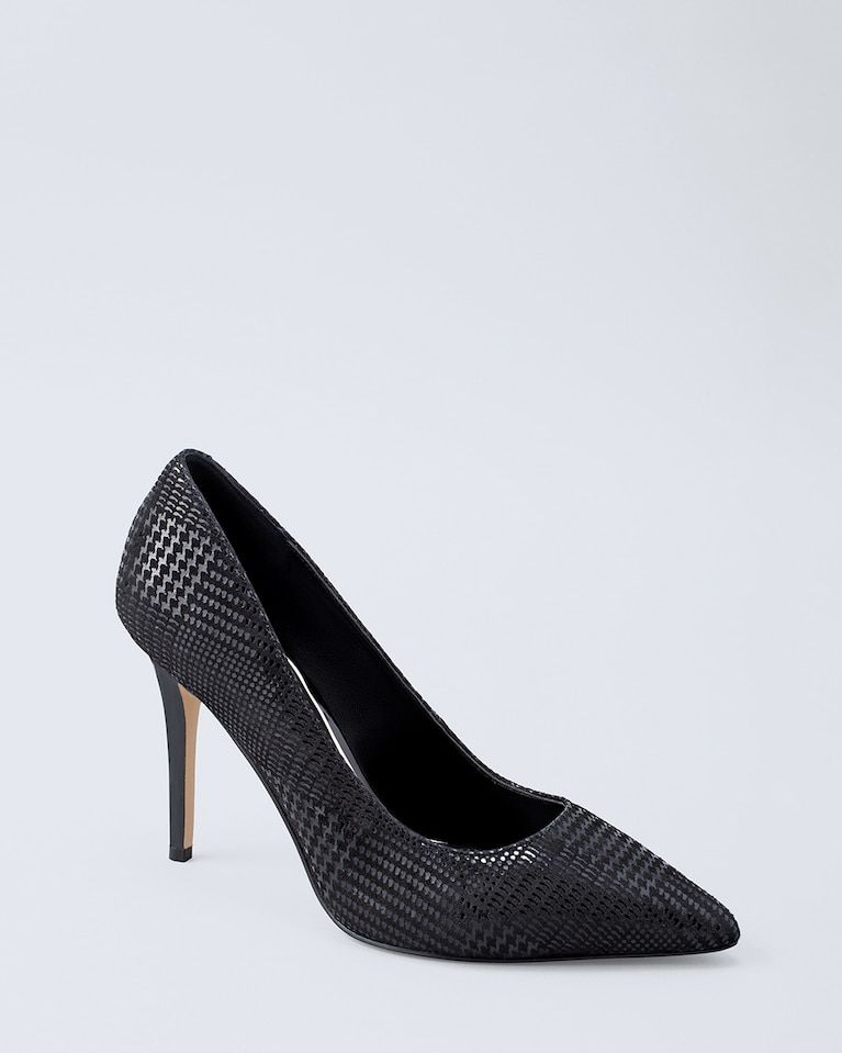 534e68f30384 Women s Olivia Houndstooth Suede Heels by White House Black Market