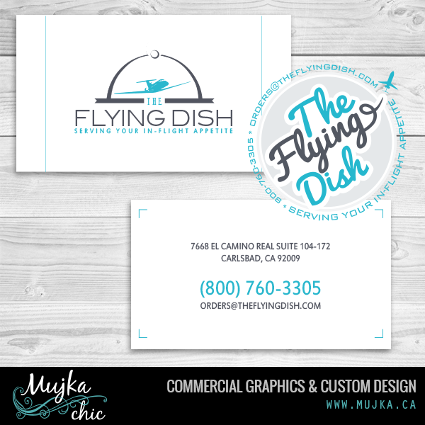 The Flying Dish Logo and branding concept designs www.mujka.ca