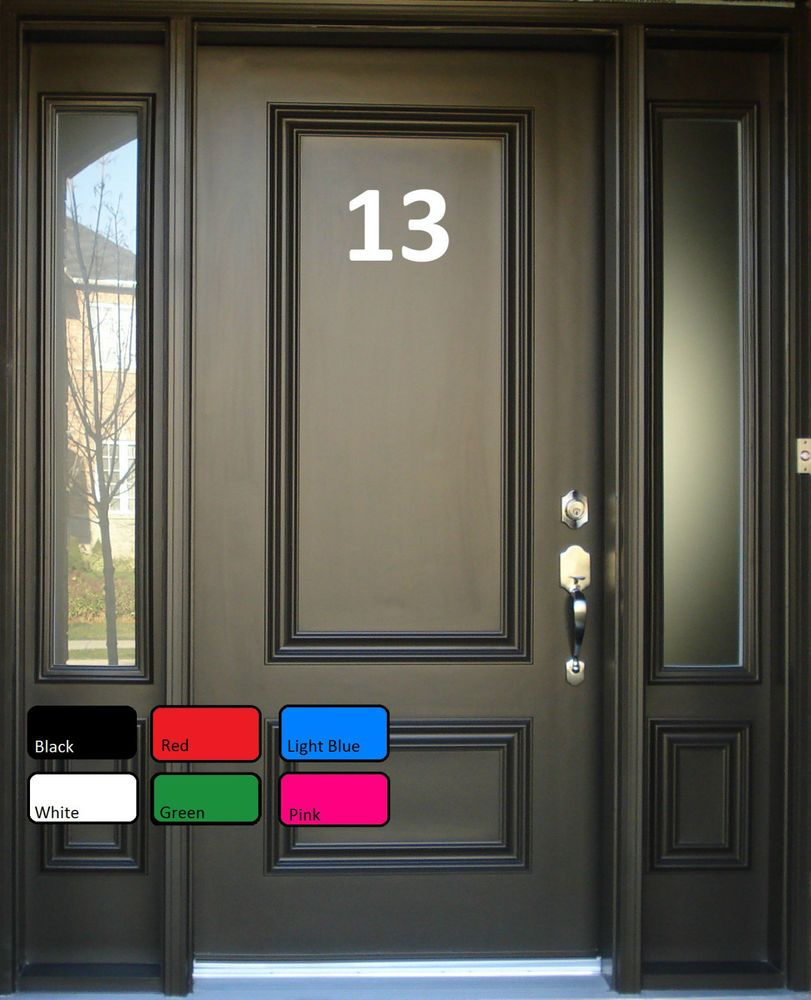 Details about House Office Sign Door Numbers Letters Self Adhesive