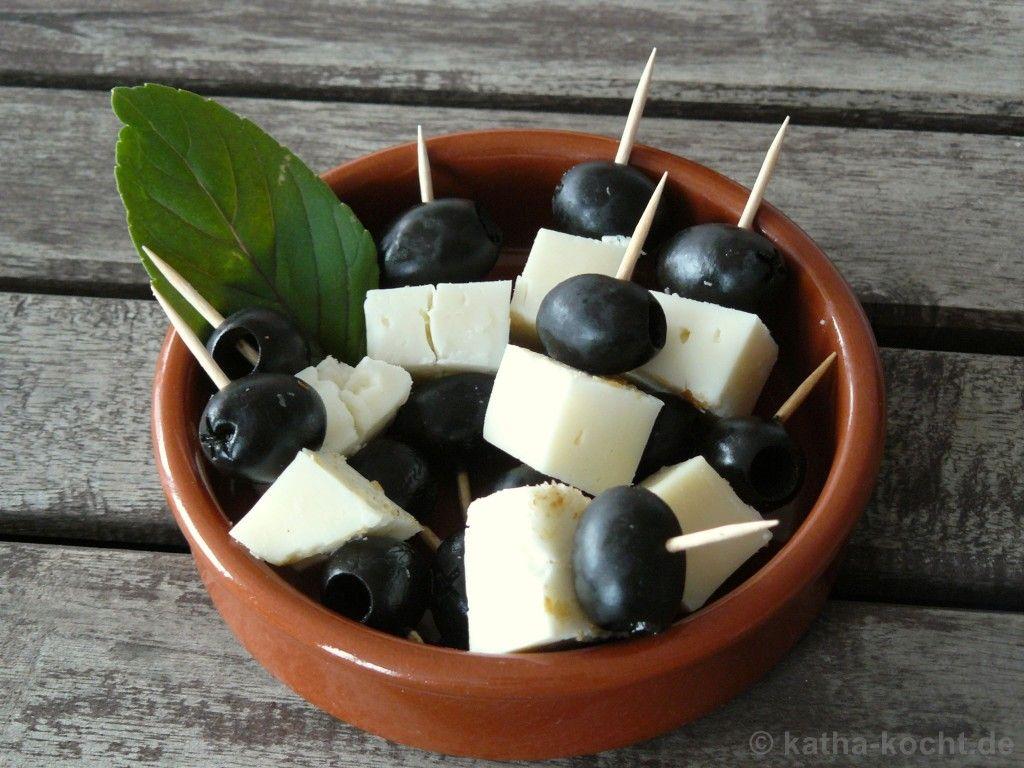 Tapas oliven ziegenk se spie chen rezepte tapas - Spanische deko ...
