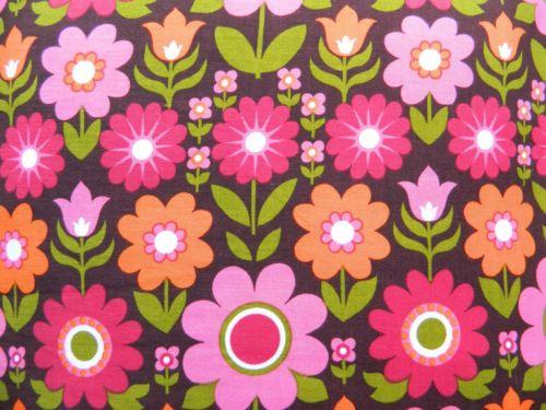 vintage pop floral fabric