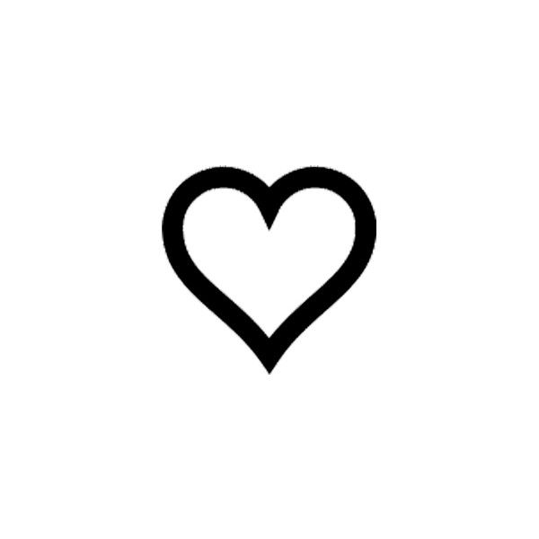 Pics photos heart black outline small cute heart tattoo for Black heart outline tattoo meaning
