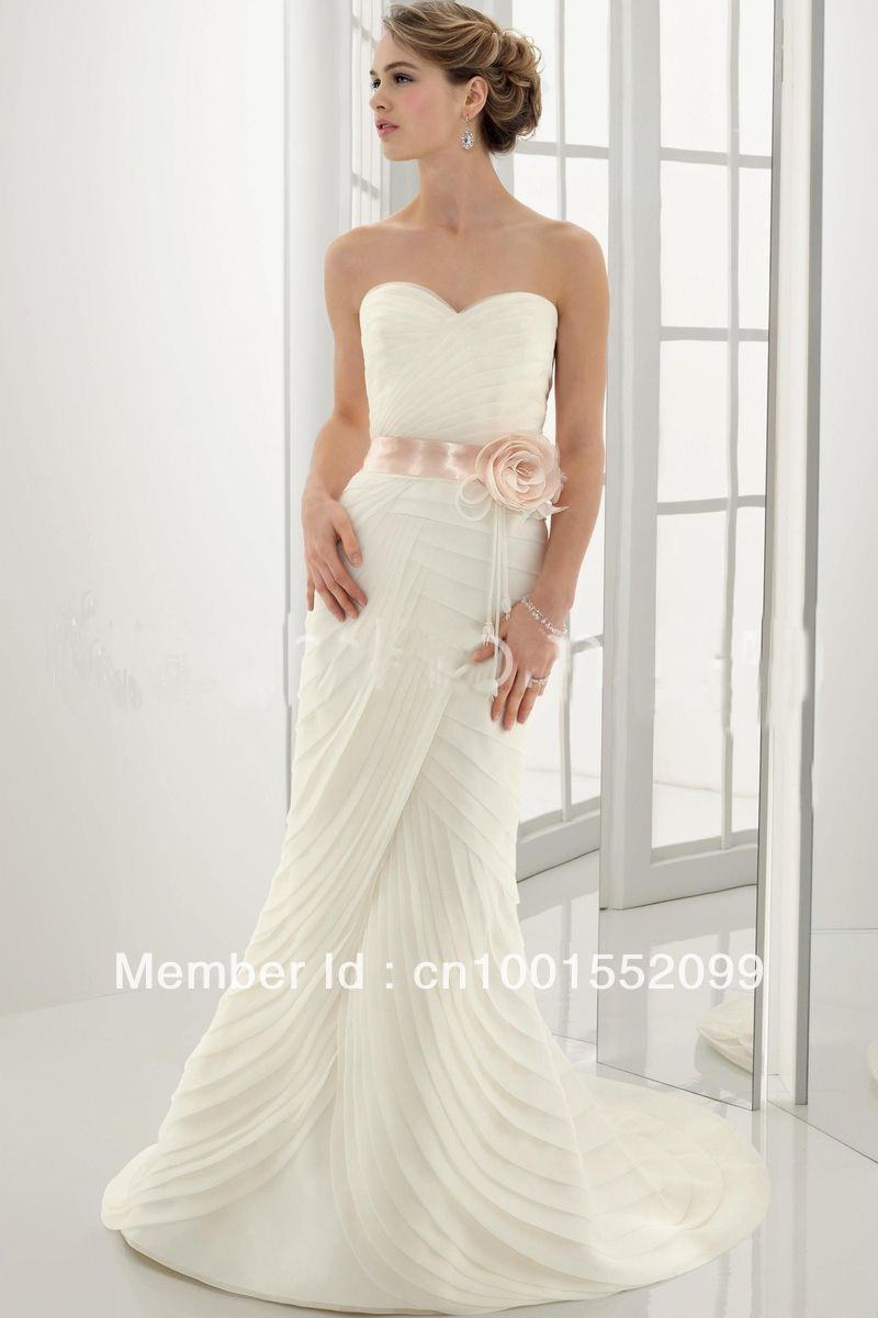 Best wedding dresses aliexpress   midgley Clarice sweatheart A line chiffon pleats Wedding