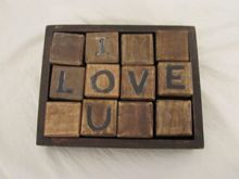 I love you blocks by Sugarboo Designs.  What a sweet gift!  $44
