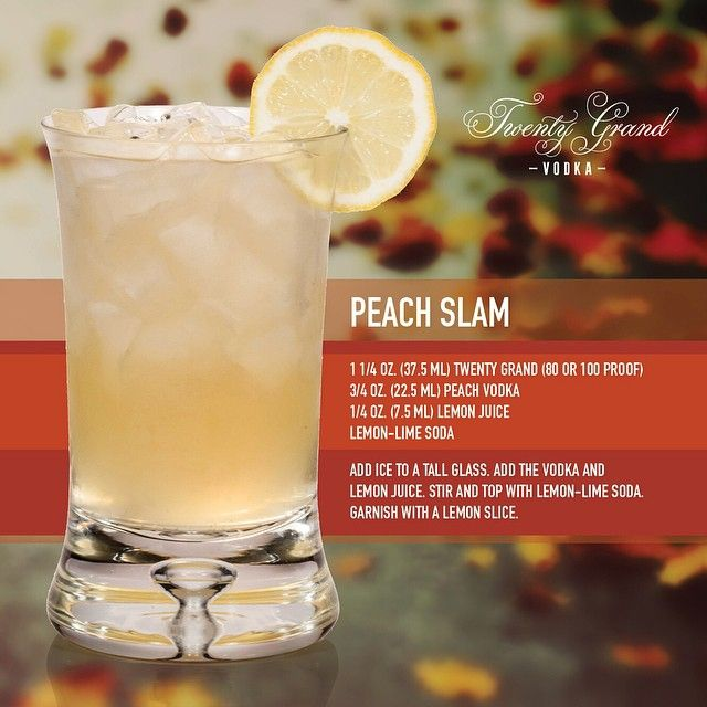 Drink With Peach Vodka: Peach Slam, Just In Time For Autumn. #fall #cocktails
