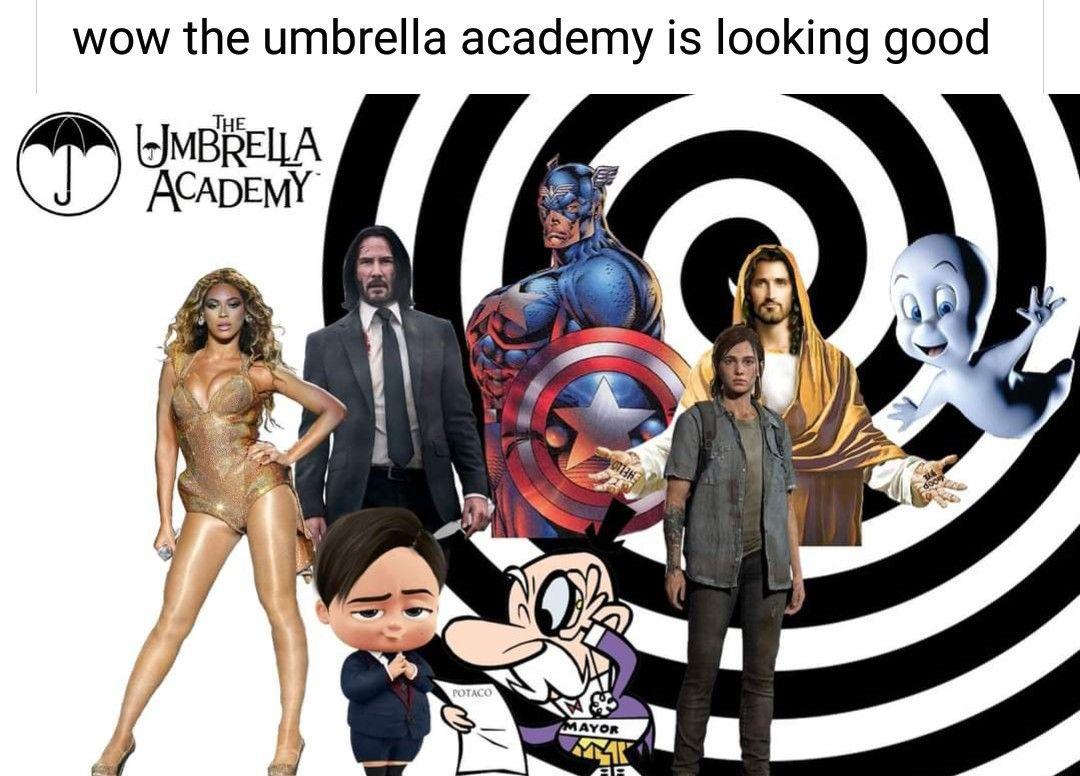 Pin By Rayneekk On The Umbrella Academy In 2020 Funny Memes Umbrella Really Funny Memes