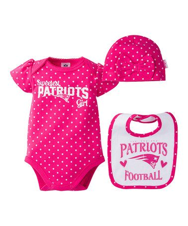 ff552b825 New England Patriots Pink Bodysuit Set - Infant #zulily #zulilyfinds ...