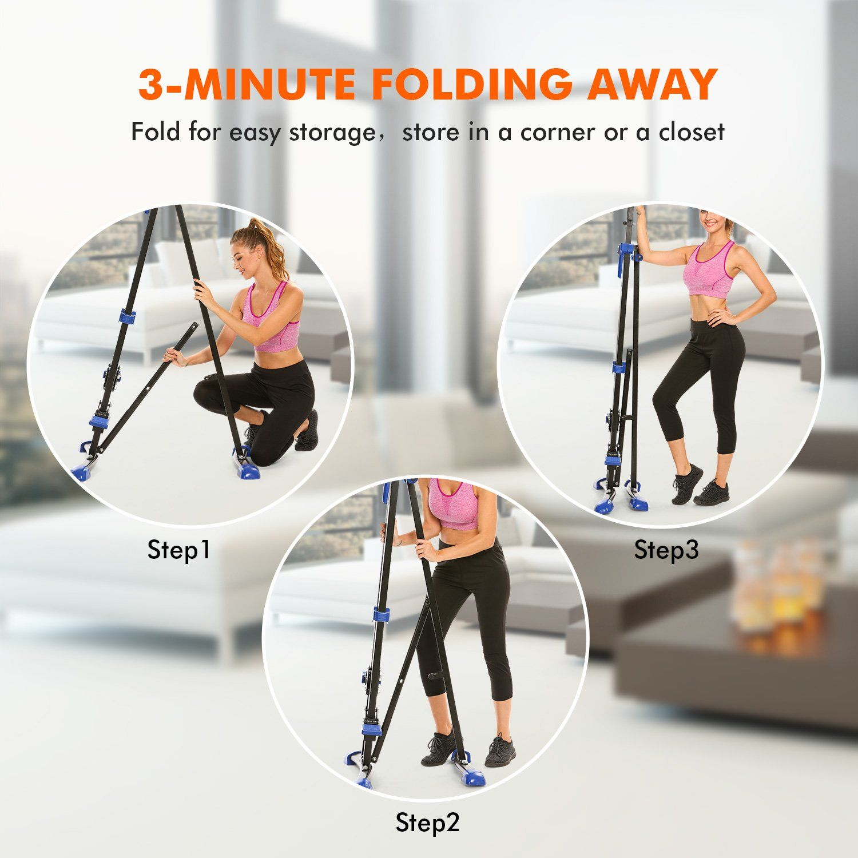 Moroly Vertical Climber Exercise Machine Folding Cardio