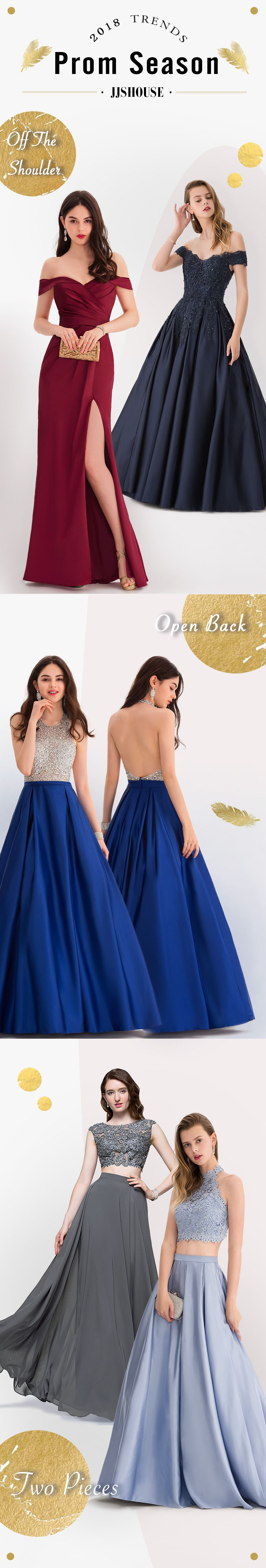 Prom Season Is Here Which Style Do You Like We Ve Got Off The Shoulder Open Back Two Piece Sequins And So On Find Dresses Prom Dresses Stylish Prom Dress [ 5427 x 920 Pixel ]