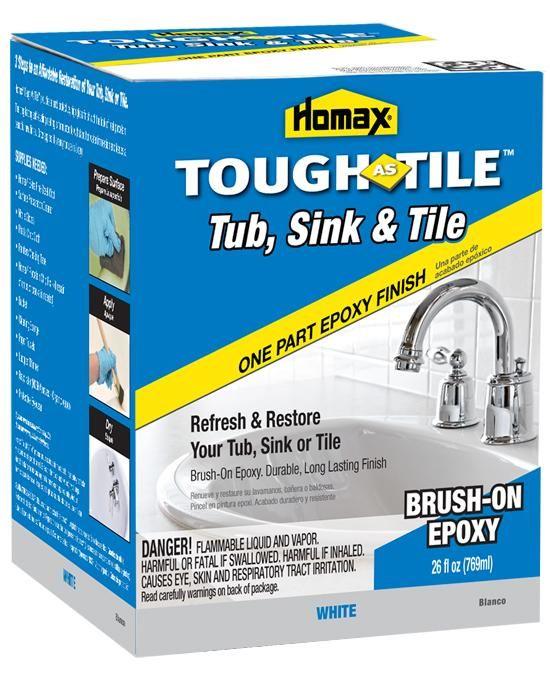 Homax 720773 Tub Amp Tile Epoxy Finish 1 Qt White Tub