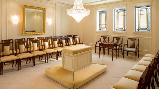 Sealing room in the Montreal Quebec Temple.