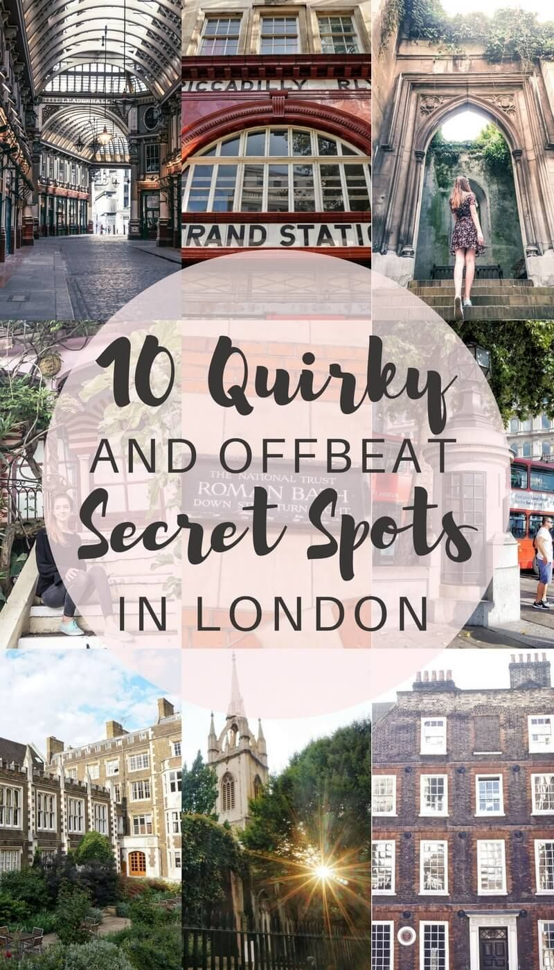 10 Quirky, unique and offbeat secret spots in London you'll love! Where to escape the crowds in London, England.