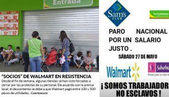 Paro nacional en Wal-Mart, Sam's y Bodegas Aurrerá por miserable reparto de utilidades
