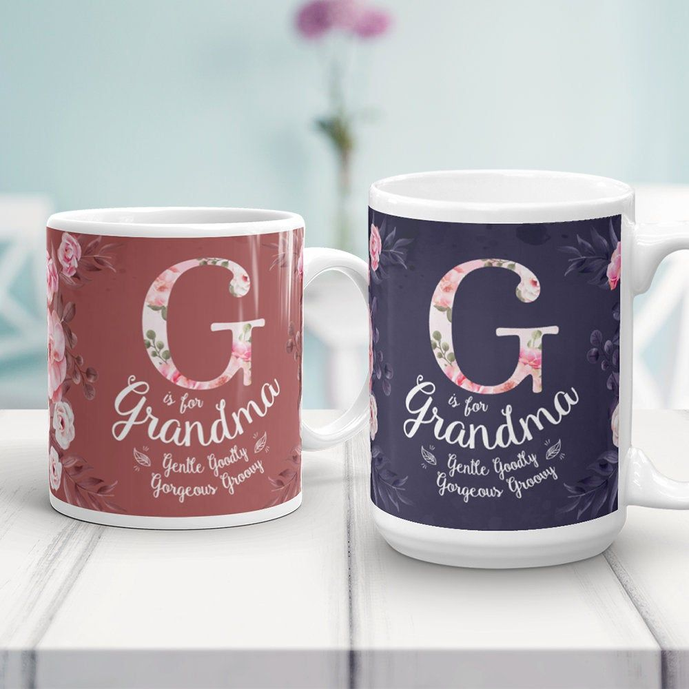 Grandma Mug, G Is For Grandma, Grandmother Gift, Granny, Grandparents Day Gifts, Pregnancy Announcement Reveal Mug #grandparentsdaygifts