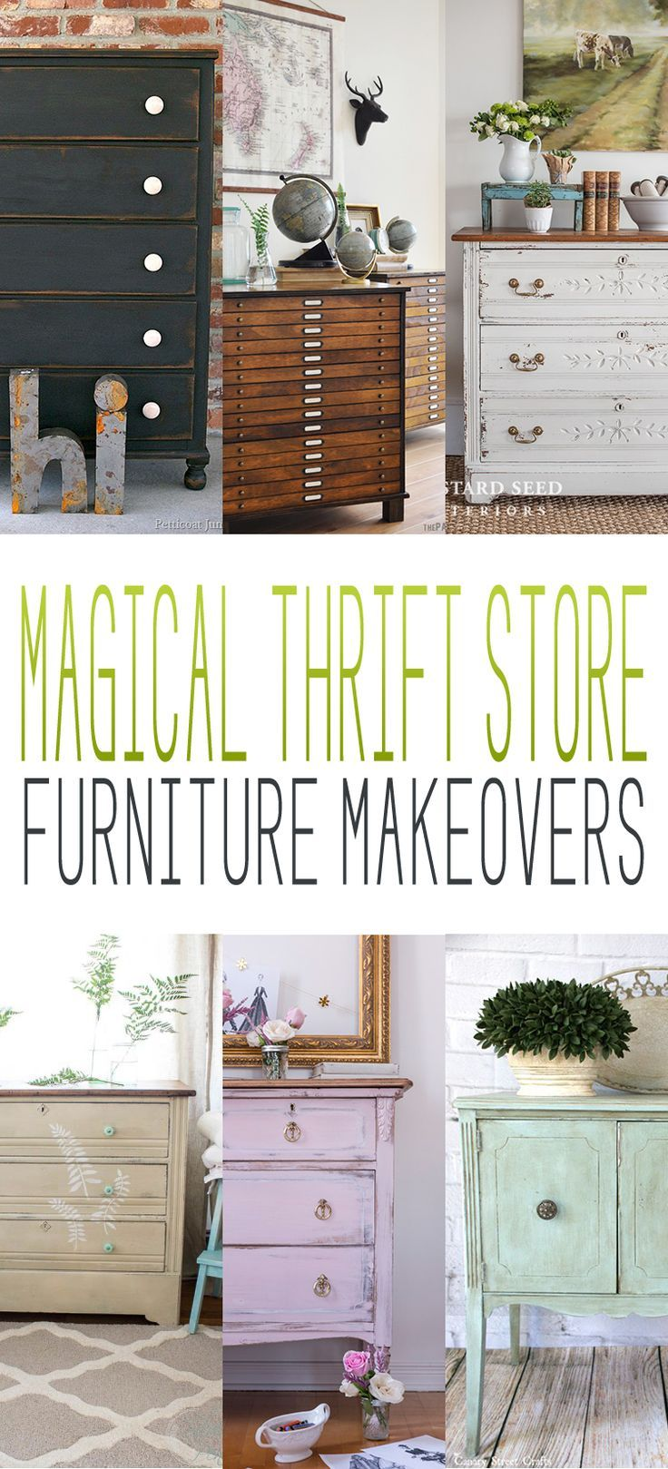 I have to be honest with you all…this little collection of Magical thrift Store Furniture Makeovers makes my heart go a flutter! Each and everyone of them I would love to find a picture perfect place in my home for! From the Pretty Green Patina piece to the over the top Industrial Style Farmhouse piece…they …
