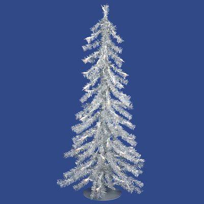 Vickerman 2\u0027 Silver Artificial Christmas Tree with 35 Mini Clear