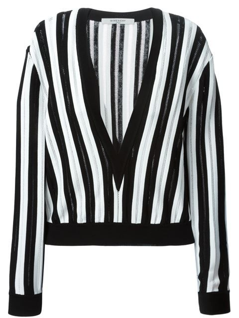 7fd66f8bbe347 Shop Givenchy cropped striped jumper in Hirshleifers from the world s best  independent boutiques at farfetch.com. Shop 300 boutiques at one address.