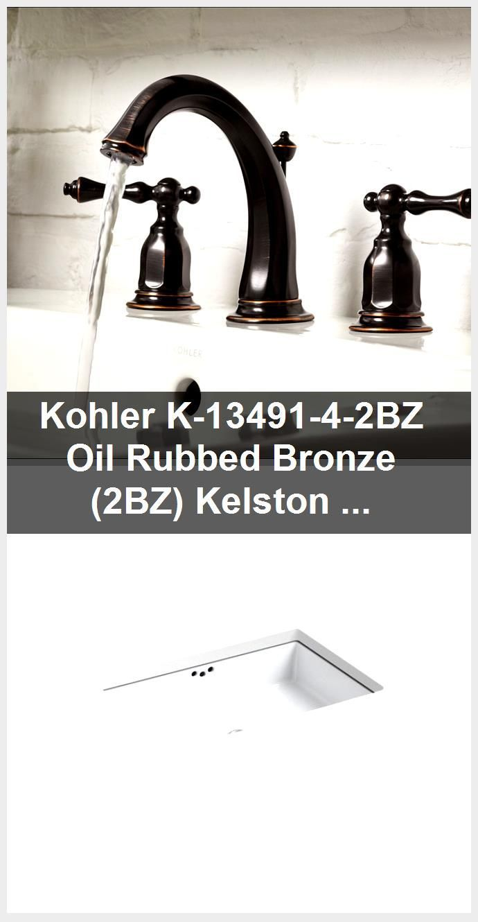 Photo of Kohler K-13491-4-2BZ Oil-Rubbed Bronze (2BZ) Kelston Widespread bathroom fitting with …