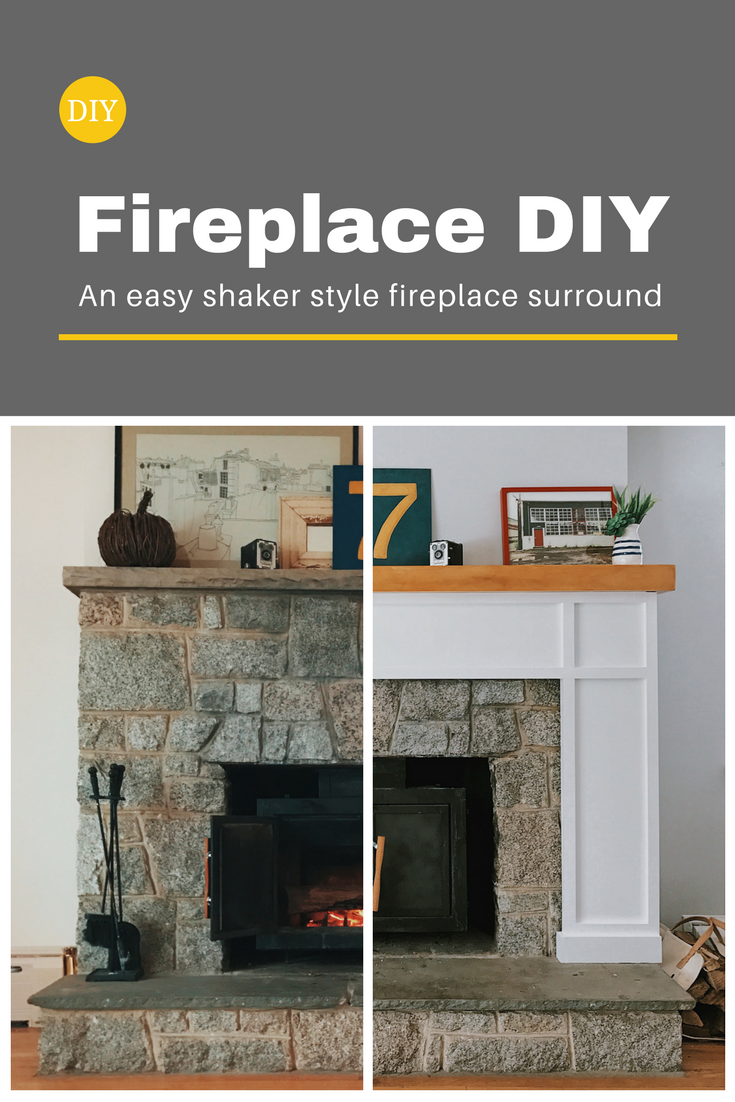 Modernize Your Fireplace With This Easy Shaker Surround