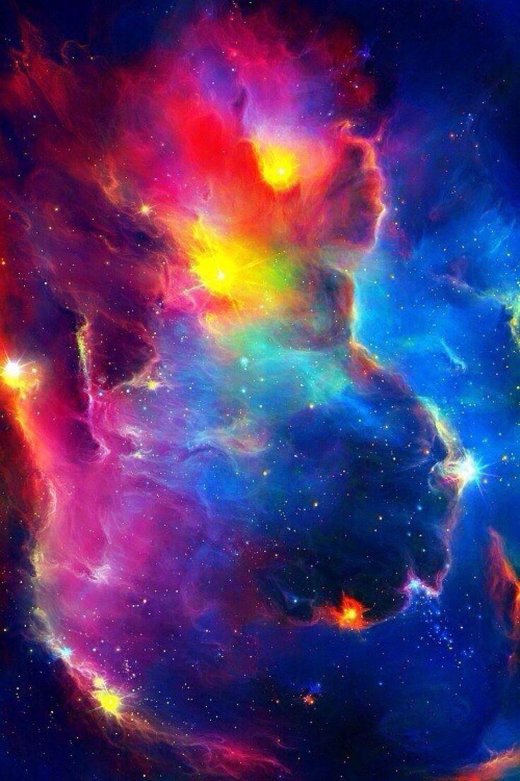 Rainbow iphone wallpaper tumblr - Colorful Space Nebula Stars Iphone 6 Plus Hd Wallpaper