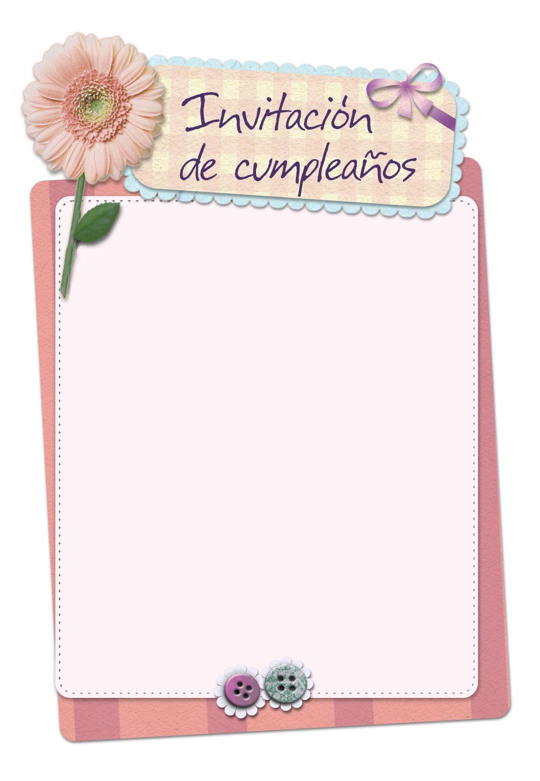 Invitación Gratis De Cumpleaños Para Imprimir Invitación
