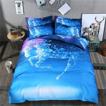 New Snowflake Horse Design Duvet Cover Set Bedding And Europe Style