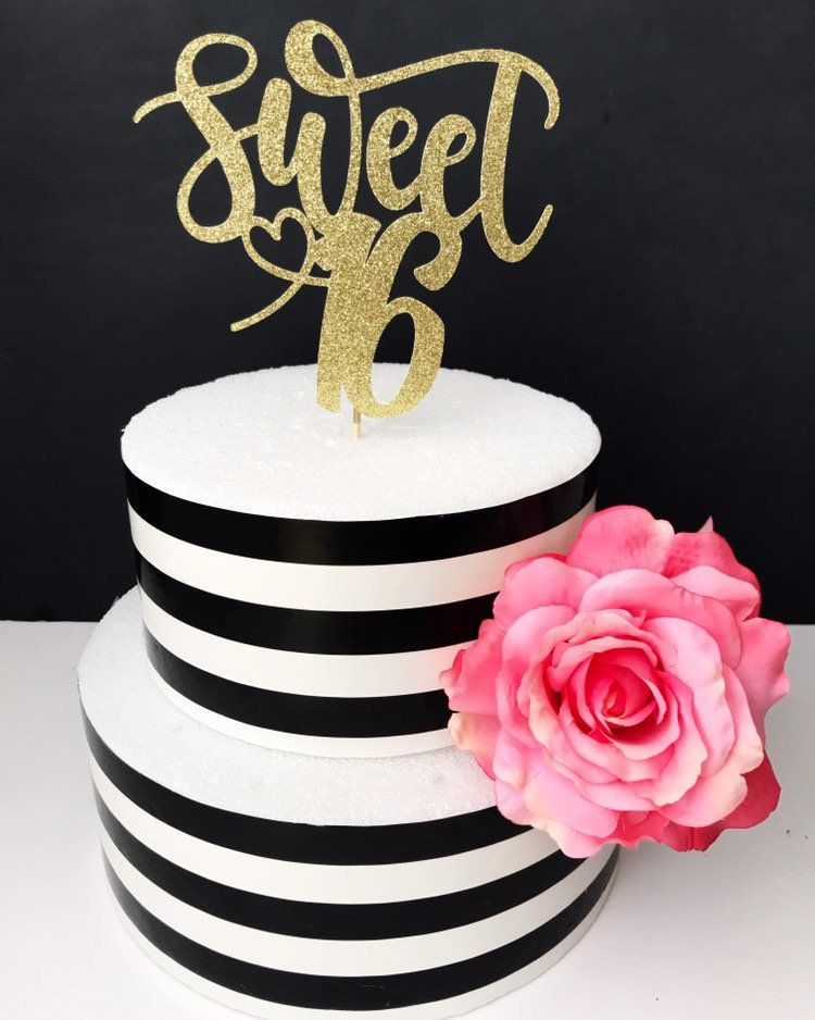 Sweet 16 Cake Topper Birthday cake toppers, Sweet
