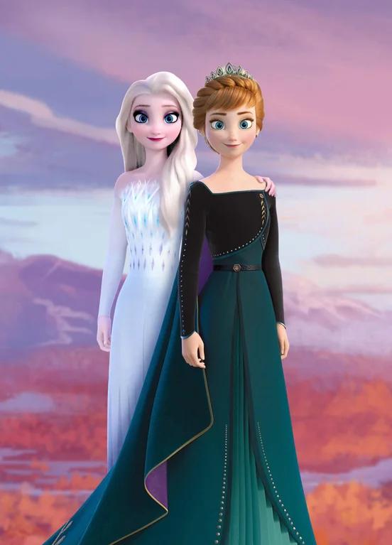 Elsa The Snow Queen And Queen Anna.