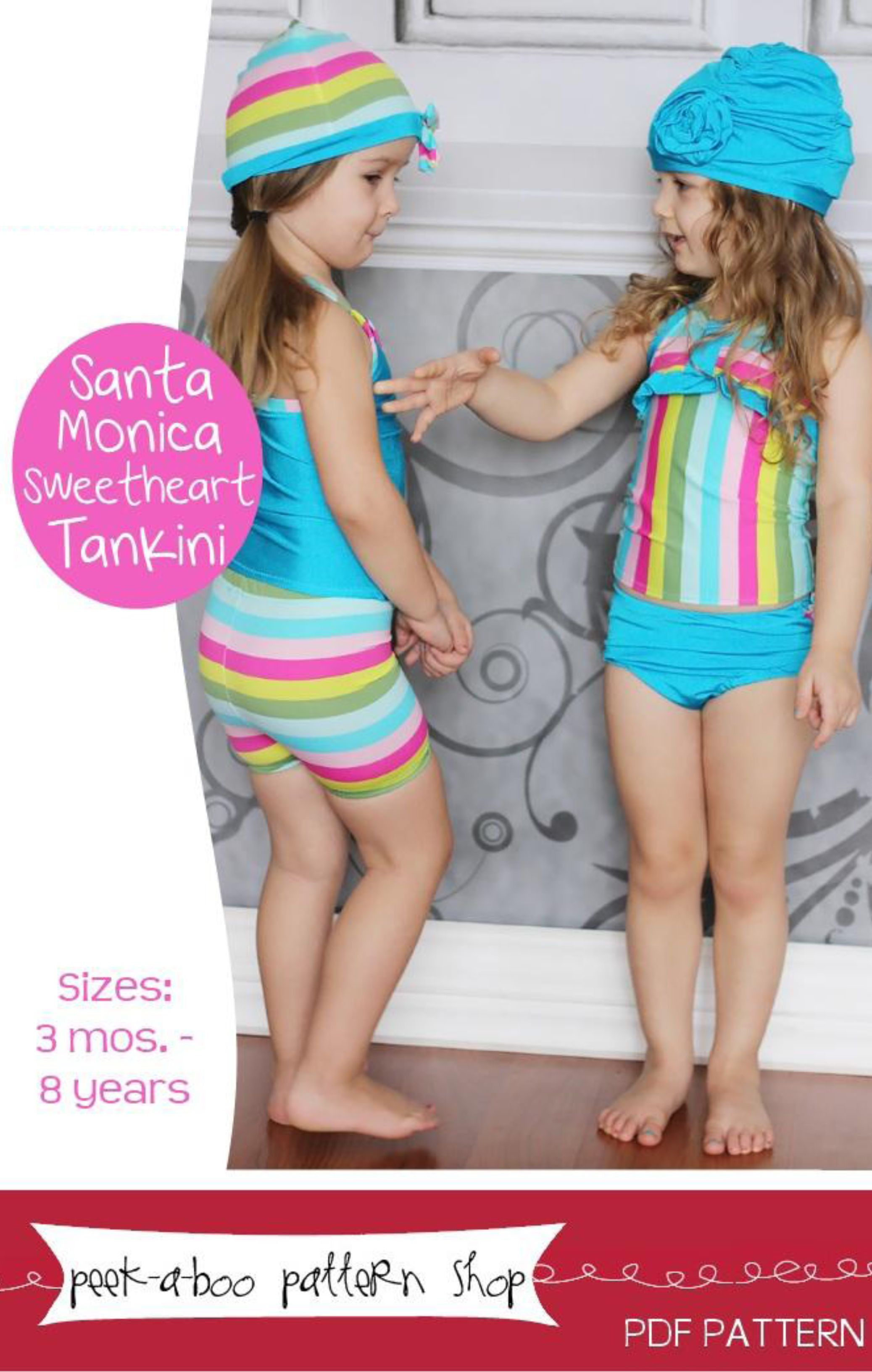 Santa Monica Sweetheart Tankini | Sewing for the Girls | Pinterest