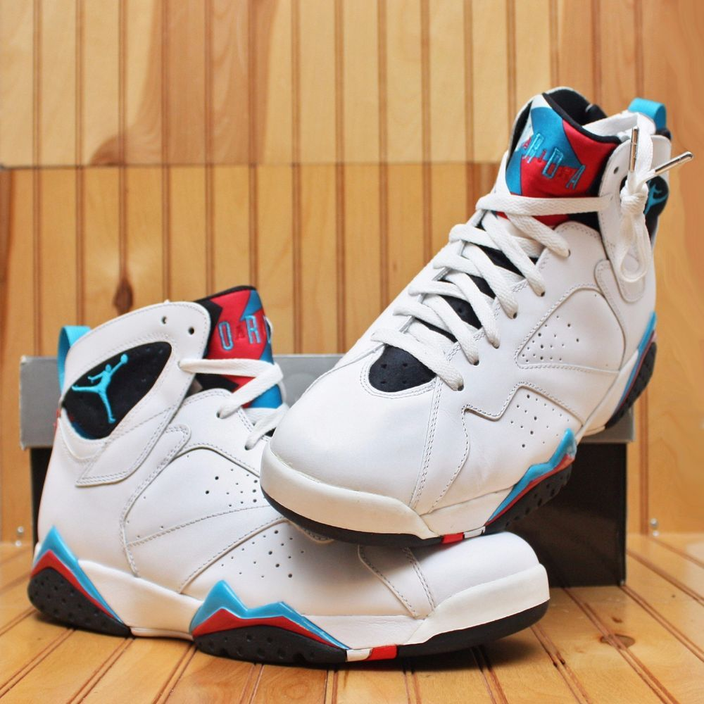 hot sale online df0b4 ae350 2010 Nike Air Jordan VII 7 Retro Size 12 -Orion Blue Black Infrared- 304775  105  Nike  BasketballShoes