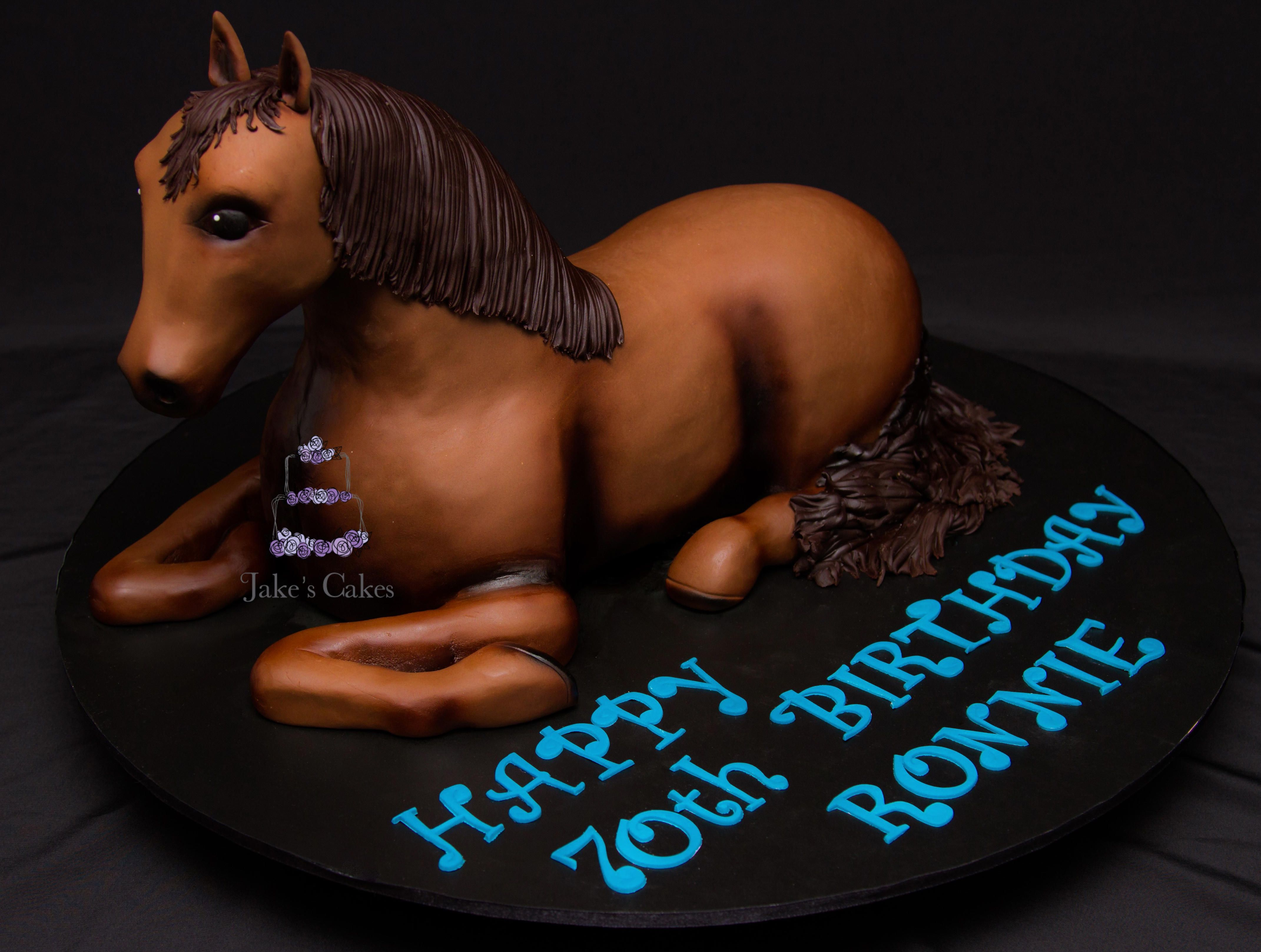 GIDDY UP My biggest cake challenge since Iron Man, this Horse ...