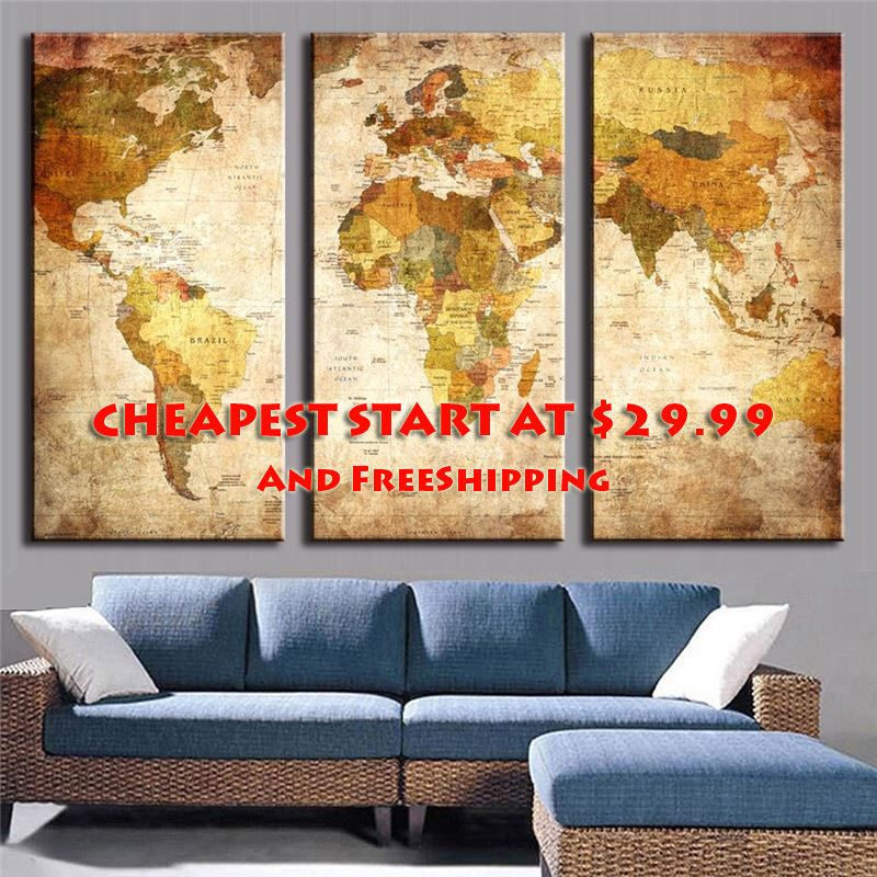 World Map Canvas, Vintage World Map Print, Antique World Map, Old World Map, Extra Large World Map, World Map Art {FREE SHIPPING} by GiftOla on Etsy https://www.etsy.com/listing/488952477/world-map-canvas-vintage-world-map-print