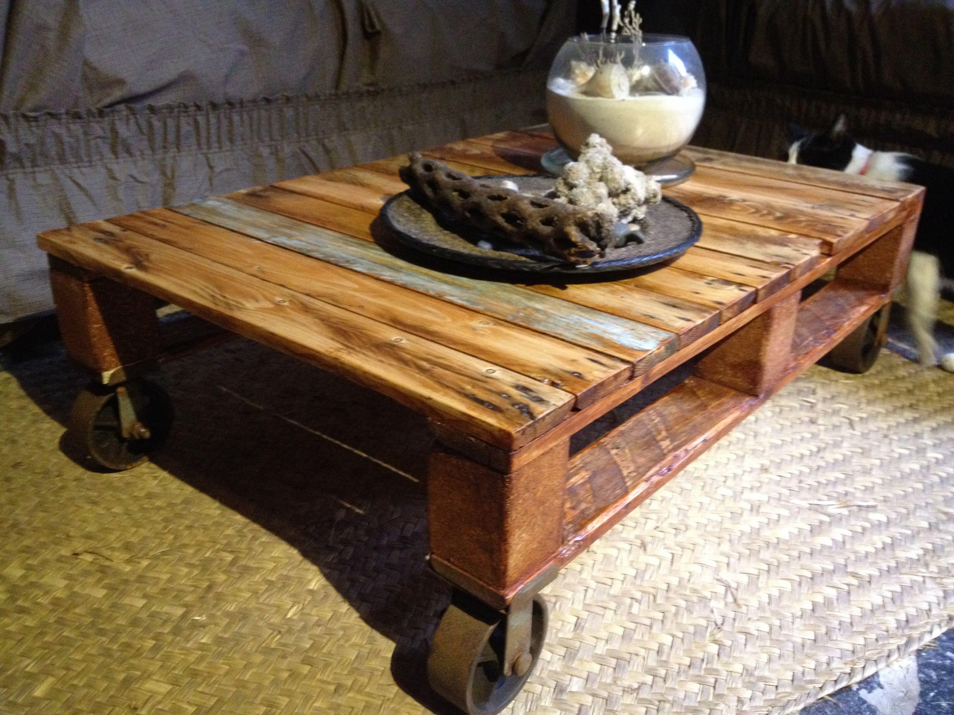 Mesa de centro hecha de palet #palet #mueble #furniture #reciclado ...