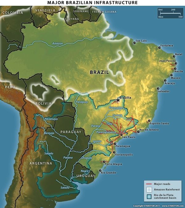 The Geopolitics of Brazil Amazon Rainforests, Rio de la Plata Basin - copy interactive world map amazon