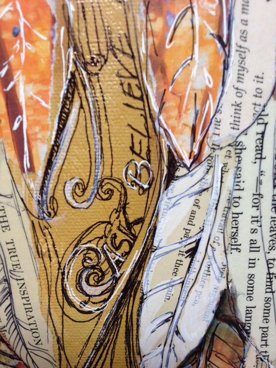 Angel Wings custom order 11x14 on canvas by MichelleLakeArt