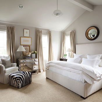 Mirror above Bed Transitional bedroom Ashley Goforth Design