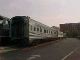 Line of passenger cars