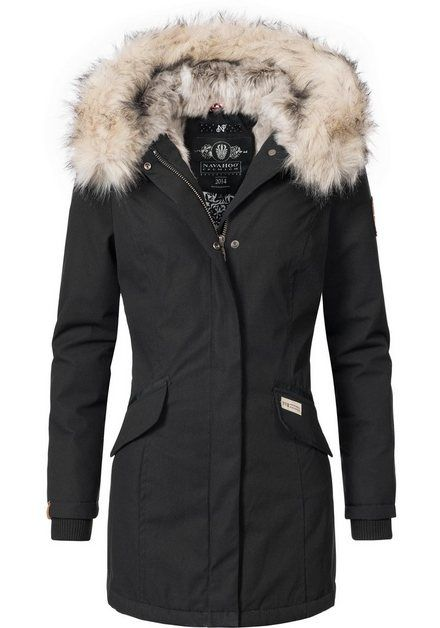 Photo of Navahoo Wintermantel »Cristal« stylischer Damen Winterparka mit Kunstfell-Kapuze online kaufen | OTTO