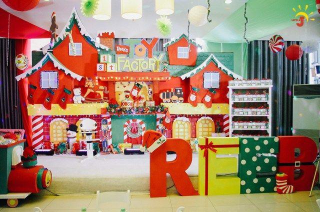 Christmas Themed 1st Birthday Party.Reeb S Santa S Toy Factory Themed Party 1st Birthday 节日