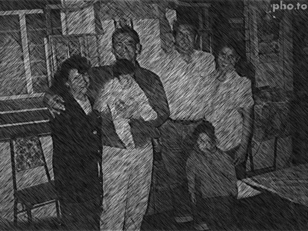 Con mi esposa, mi hermana Miriam, esposo  e hija.