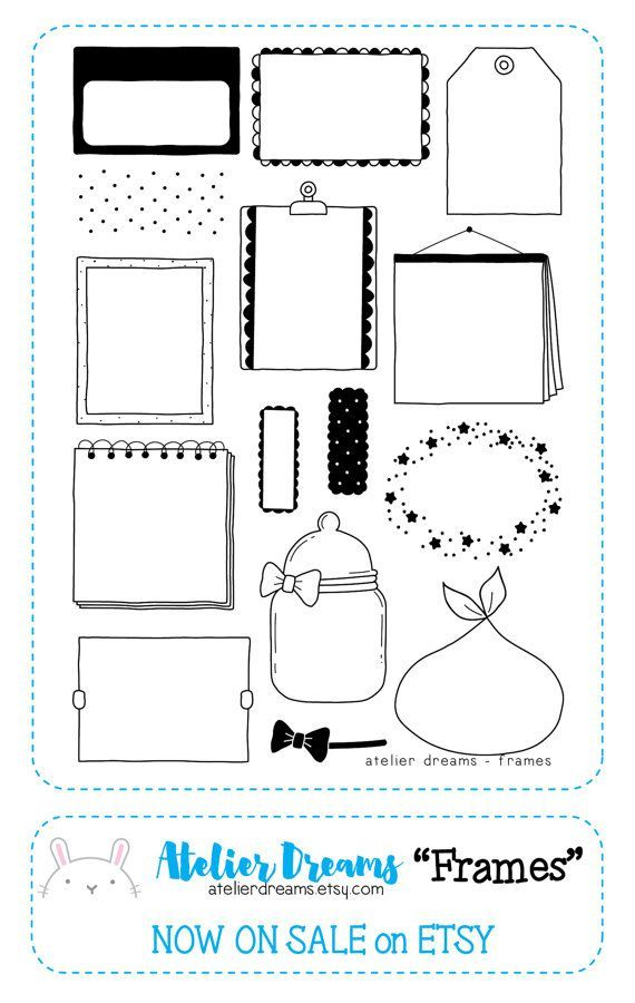 Restock Preorder AD-005 FRAMES - Planner Stamps (Photopolymer Clear ...