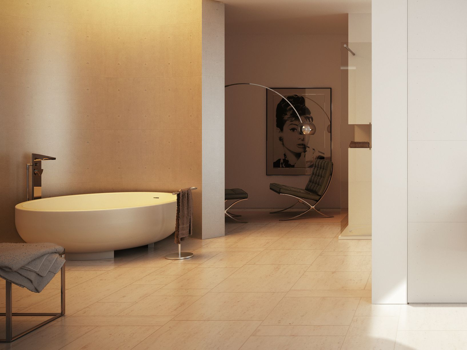Vasca da bagno rotonda gold tub by dimasi bathroom tatahouse