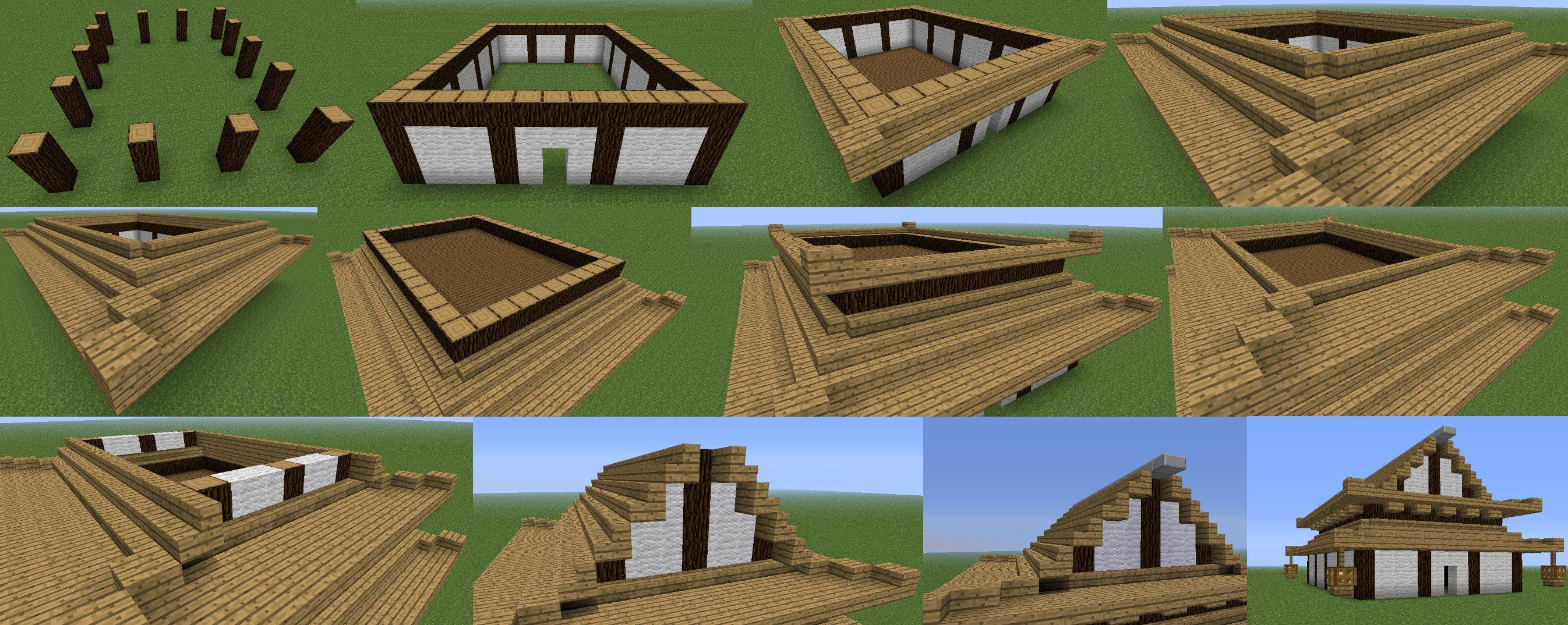 Japanese building style in minecraft minecraft guides for Building a house step by step