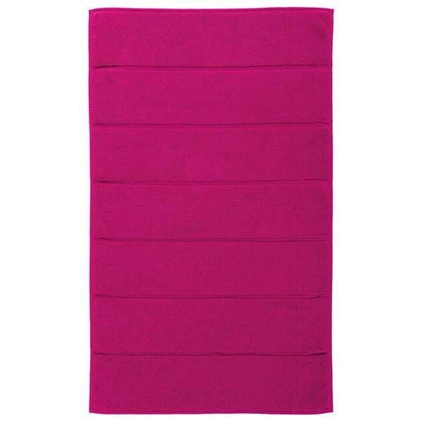 Badmat Adagio van Aquanova in de kleur fuchsia 56 materiaal 100% katoen 1250 gr./m² afm 60x60cm of 60x100cm in 18 kleuren en ideaal als uitstap mat bij douche of bad.