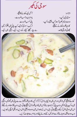 Pakistani Cooking Recipes In Urdu