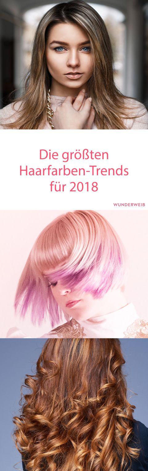 Die größten Haarfarben-Trends 2018   Haare   Pinterest ...