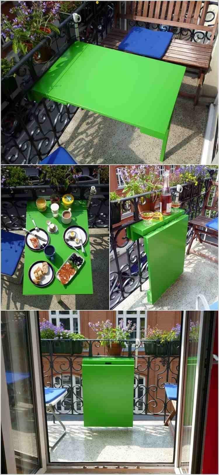 table rabattable balcon diy