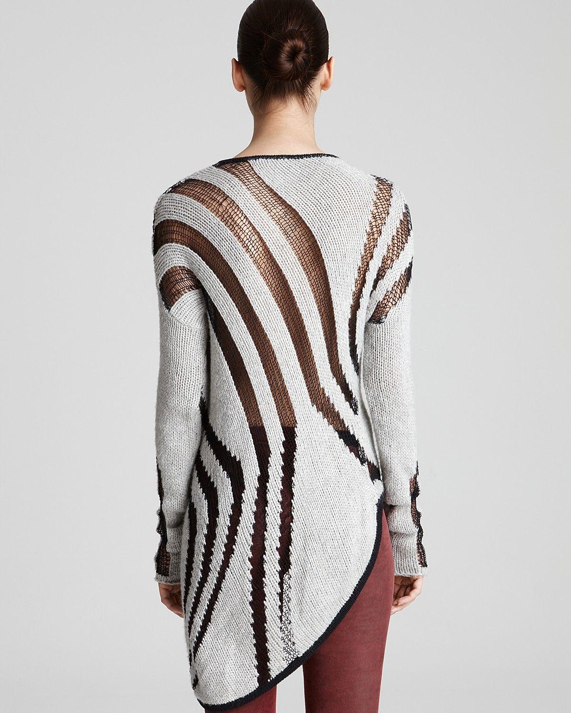 Helmut Lang Sweater - Asymmetric Instarsia